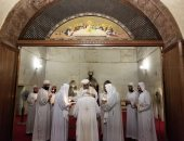 البابا تواضروس يصلى القداس بدير أبو مقار في ذكرى القديس مكاريوس الكبير
