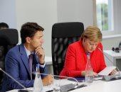 ميركل وترودو يناقشان الإصلاح فى أوكرانيا والتحديات التى تواجه الاقتصاد العالمى
