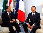 الرئيس السيسى يلتقى ماكرون على هامش قمة السبع فى بياريتز الفرنسية
