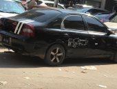 اضبط مخالفة.. سيارة بدون لوحات معدنية فى ميدان السكة الجديدة بالمنصورة