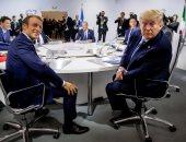 ترامب وماكرون يلتقيان مع الصحفيين فى فرنسا اليوم