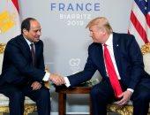 لقاء الرئيسين السيسى وترامب على هامش قمة الـسبع G7 بفرنسا