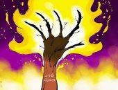 كاريكاتير الصحف السعودية.. صعوبة السيطرة على حرائق غابات الأمازون