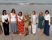بريجيت ماكرون فى جولة مع زوجات زعماء الـG7 على شاطئ كوت دو باسك