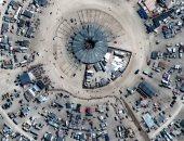 """لقطات جوية مبهرة لمبانى مهرجان """"الرجل المحترق"""" فى صحراء نيفادا.. صور"""