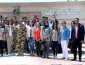 القوات المسلحة تنظم عدة زيارات لوفد شبابى من أبناء المصريين بالخارج