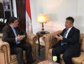 حسين زين يستقبل المستشار الثقافى لسفارة الصين بالقاهرة لبحث سبل التعاون