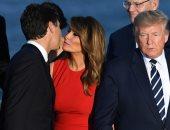 الجارديان :صورة ميلانيا ترامب وجاستن ترودو فى ختام الـ G7 تشعل الجدل على الإنترنت