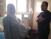 تزويد وحدة العناية المركزة بمستشفى المبرة فى الزقازيق بماكينة غسيل كلوى