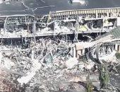 شاهد.. إنفجار للغاز الطبيعى يتسبب فى اضرار بمجمع تجارى فى أمريكا