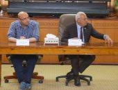 """صور.. محافظ بورسعيد يشهد جلسة برلمانية للشباب حول مبادرة """"النهوض بالتعليم"""""""