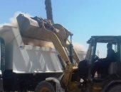 صور.. رفع 20 طن مخلفات وتحرير 13 محضر إشغال طريق فى سوهاج
