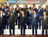 السيسى وزعماء الدول الأفريقية ورئيس وزراء اليابان فى صورة تذكارية