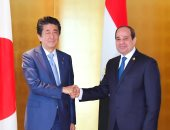 """قمة مصرية-يابانية بـ""""يوكوهاما""""..""""شينزو آبى"""" يشكر السيسى لحضوره """"التيكاد"""" ويشيد بما حققته مصر تنمويا.. ويؤكد تقدير شعب اليابان لحضارتها العريقة.. والرئيس:نتطلع لتشجيع مزيد من الشركات اليابانية على الاستثمار بمصر"""