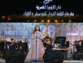 نادية مصطفى تتألق فى مهرجان القلعة الدولى للموسيقى