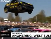 شاهد .. سباق القفز بالسيارات وتحدى الجاذبية فى بريطانيا