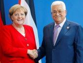 الرئيس الفلسطينى يطلع المستشارة الألمانية على آخر المستجدات السياسية