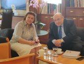 وزيرة الثقافة اليونانية لمدير مكتبة الإسكندرية: مصر مصدر ثقافة العالم