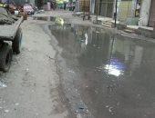 الأهالى يشكون من انتشار مياه الصرف بشارع المطربة فى بشتيل