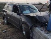 توقف حركة المرور أعلى طريق الفيوم الصحراوى بسبب حادث تصادم