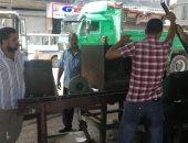 صور.. إزالة الإشغالات والباعة الجائلين أسفل كوبرى 27 غرب الإسكندرية