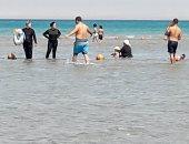 إقبال المصطافين على شواطئ العين السخنة