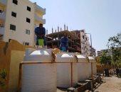 شركة مياه البحر الأحمر تبدأ عملية تطهير خزانات المدارس استعداد للعام الدراسى