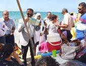 """صور .. تفعيل حملة """"اعرف حقك"""" بشواطئ المنتزة شرق الإسكندرية"""