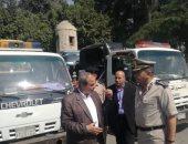صور.. مدير أمن الغربية يقود حملة مرورية بطنطا