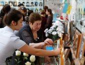 صور.. أوسيتيا الشمالية تحيى الذكرى الـ15 ضحايا مذبحة مدرسة بيسلان