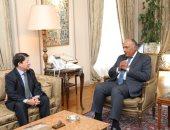 سامح شكرى يبحث وزير خارجية نيكاراجوا العلاقات بين البلدين