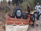 إصابة 9 أشخاص فى حادث سير ببنى سويف