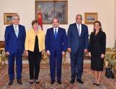 شاهد.. السيسي يستقبل مرشحة صندوق النقد الدولى ويلتقى وزير خارجية غينيا