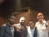 """صور..كواليس تسجيل أغنية جديدة لأحمد سعد بعنوان """"أنا خايف"""""""