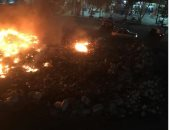 أهالى شارع 135 بشبرا الخيمة يشكون تراكم القمامة وحرقها