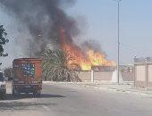 25 سيارة إطفاء تسيطر حريق حريق اندلع بداخل مصنع ورق بـ6 أكتوبر