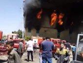السيطرة على حريق اندلع داخل مصنع للغزل والنسيج فى الهرم دون إصابات