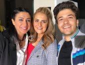 """شاهد.. وفاء صادق ورانيا محمود ياسين من كواليس """"فلانتينو"""" للزعيم عادل إمام"""