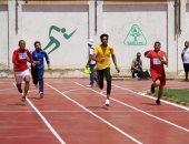 صور.. انطلاق منافسات ألعاب القوى بأسبوع شباب الجامعات لمتحدى الإعاقة