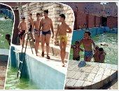 فيديو وصور.. أهالى بشتيل يتغلبون على الحر بحمام سباحة للجميع والسعر 3 جنيه