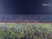جماهير ليبيريا تقتحم الملعب احتفالا بالفوز على سيراليون والعقوبات تنتظرهم