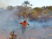 """سكان منطقة """"أغوا ابوا"""" يحاولون السيطرة على النقاط الساخنة فى حرائق الأمازون"""