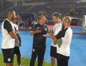 المنتخب الأولمبي يخوض تدريبه بملعب السويس استعداداً للسعودية