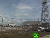 """شاهد ما خلفه إعصار """"دوريان"""" من الدمار في مطار باهاماس"""