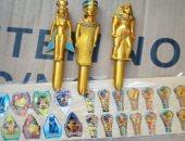 صور..إحباط تهريب 55 طردا بداخلها مصلقات بنقوش فرعونية عبر قناة السويس