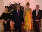 شاهد.. إيفانكا ترامب تتألق فى فستان أصفر  خلال لقاء رئيس كولومبيا