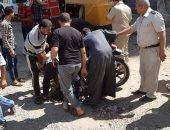 صور .. إصابة مسن بقطع جزء من وجهه بسبب بيارة مفتوحة فى مدينة بوكبير