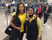 السباحة المصرية العالمية فريدة عثمان تغادر مطار القاهرة إلى واشنطن