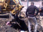 انقطاع المياه غرب الإسكندرية بسبب كسر ماسورة صرف صحى