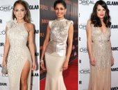 سبتمبر شهر الأفراح.. إليك أبرز تصميمات الفساتين السواريه
